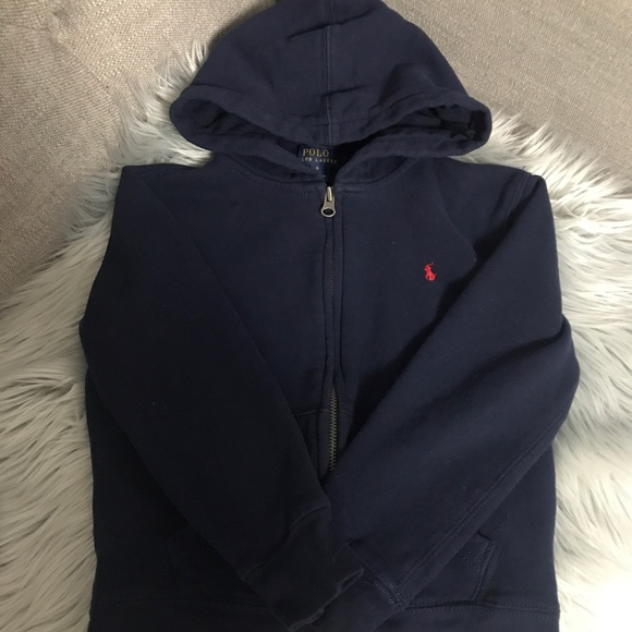 Polo by Ralph Lauren Other - Boys Size 6 Polo Hoodie Hooded Sweatshirt ZIP Up